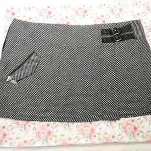 Van's 90s Grunge Black Checkered Mini Skirt